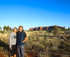 Early morning sunrise at Uluru