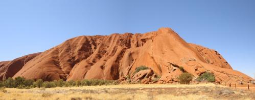 Close up view Uluru (one of many)